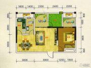 凯旋城1室2厅1卫64平方米户型图