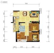 华润国际社区3室2厅1卫78平方米户型图