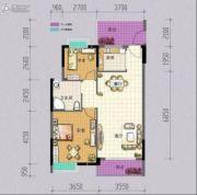 凤凰花园2室2厅1卫78平方米户型图