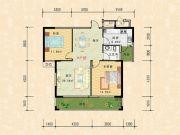 科特・明日华府二期2室2厅1卫99平方米户型图