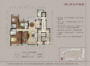 大学小筑5室2厅3卫240平方米户型图