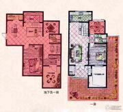 易居公馆2室2厅1卫85--95平方米户型图
