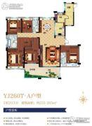 碧桂园天玺4室2厅2卫189平方米户型图