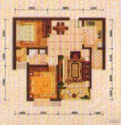 东方夏威夷2室2厅1卫88平方米户型图