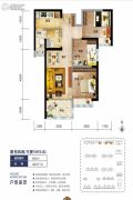 海口碧桂园3室2厅1卫86平方米户型图