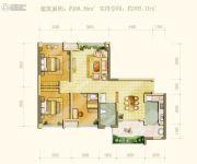 中海右岸3室2厅1卫88--105平方米户型图
