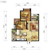 中交锦湾一期2室2厅1卫60平方米户型图