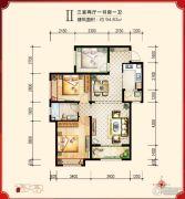 绿宸万华城3室2厅1卫94平方米户型图