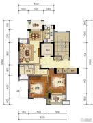 东泰・春江名园2室2厅1卫87平方米户型图