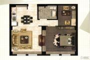 悦尚华都1室2厅1卫89平方米户型图