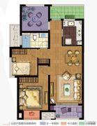 万科城3室2厅1卫89平方米户型图