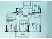 九洲金东方2室1厅1卫101平方米户型图