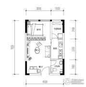 宝嘉花与山1室2厅1卫29平方米户型图