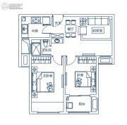 东润玺城2室2厅1卫71平方米户型图