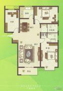 U乐广场3室2厅2卫148平方米户型图