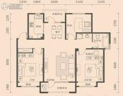 金沙・美丽岛3室2厅1卫105平方米户型图