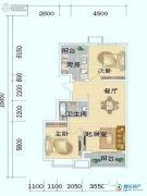 海岸国际2室2厅1卫87平方米户型图