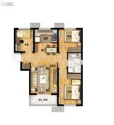 万科城3室1厅1卫90平方米户型图