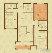 国赫红珊湾3室2厅2卫114平方米户型图