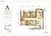 金辉中央�著3室2厅2卫0平方米户型图