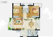 益华・山海郡2室2厅1卫90--100平方米户型图
