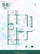 全都城-悦府3室2厅1卫106平方米户型图