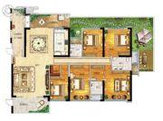 帝�Z苑5室2厅3卫246平方米户型图