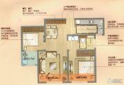 朗诗天萃2室2厅1卫80平方米户型图