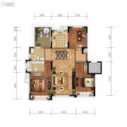 金地檀悦3室2厅2卫117平方米户型图