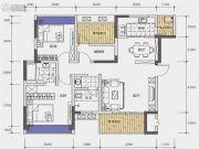 北城天街3室2厅2卫100平方米户型图