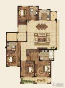 高科紫微堂4室2厅3卫177平方米户型图