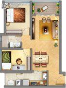 祈福缤纷汇2室2厅1卫74平方米户型图
