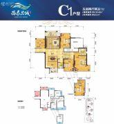 昌泰茗城5室2厅2卫135平方米户型图