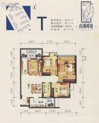 尚城峰境3室2厅1卫85平方米户型图
