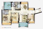 美的公馆3室2厅2卫115平方米户型图