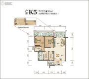 佳乐国际城4期3室2厅2卫99平方米户型图