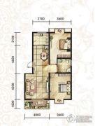 汉府国风2室2厅1卫0平方米户型图