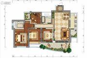 龙湖世纪峰景4室2厅2卫143平方米户型图