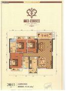 丽日・君颐家园3室2厅2卫103平方米户型图