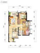 时代春树里3室2厅1卫80--90平方米户型图