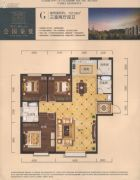 公园柒�3室2厅2卫157平方米户型图