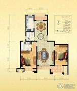金通桂园 高层3室2厅2卫135平方米户型图
