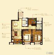 中铁诺德誉园2室2厅1卫90平方米户型图