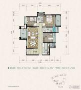 建曙高尔夫1号2室2厅2卫108平方米户型图