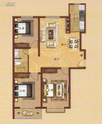凤凰城3室2厅2卫117平方米户型图