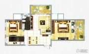 融信新新家园2室2厅1卫107平方米户型图