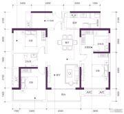 三祺・城光中心3室2厅2卫122平方米户型图