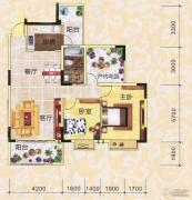 永翔时代名苑2室2厅1卫103平方米户型图