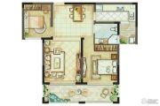 骏景华庭2室2厅1卫85平方米户型图