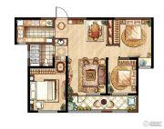 朗诗�园3室2厅1卫115平方米户型图